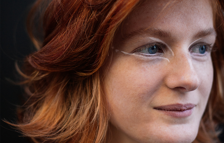 woman close up face