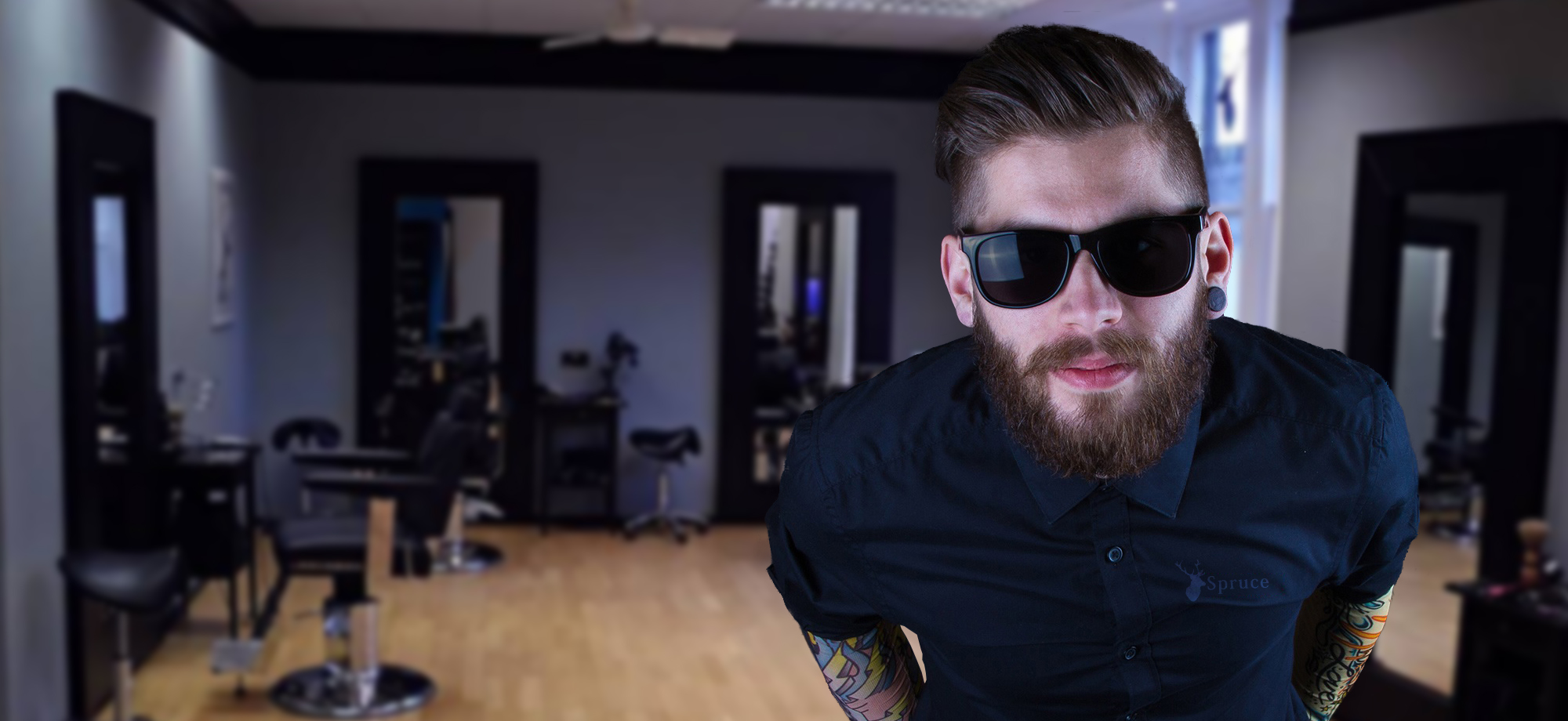 Model in Spruce Barbers