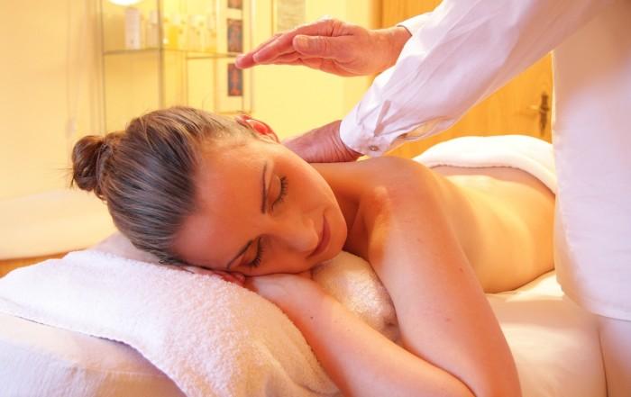 woman having massage spruce barbers